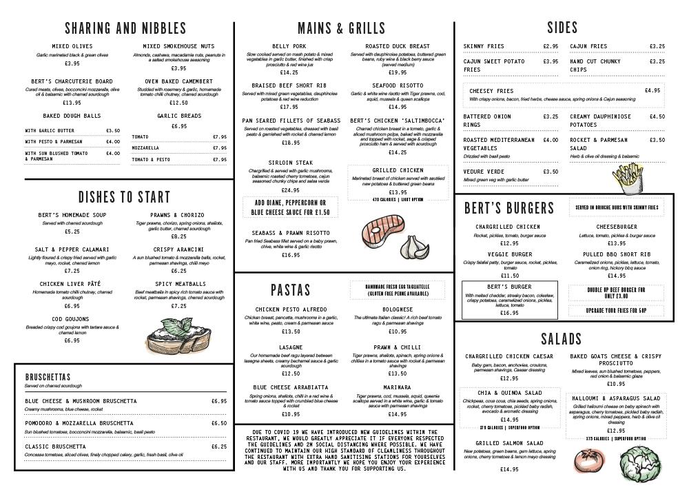 Berts Brandesburton Autumn menu